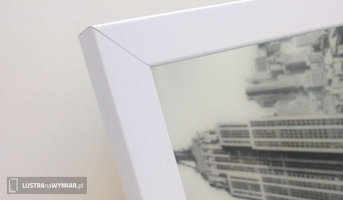 Lustro W Bialej Ramie - Lustra w ramach aluminiowych